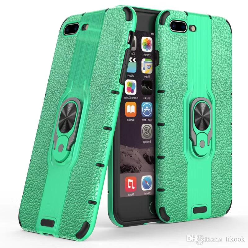 Hybrid Phone Case for Apple iPhone11/X/XS/XR/XS MAX Slim Case Metal Ring Holder Kickstand Shockproof Bumper Cover Antiscratch