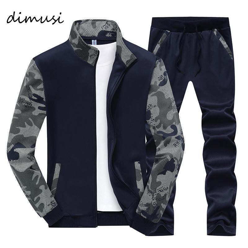 DIMUSI Spring Hommes Sportwear Ensembles Survêtement Homme Outwear Sweatshirts Patchwork Hommes Sweats à capuche Homme Survêtement Col Pied 4XL, TA046