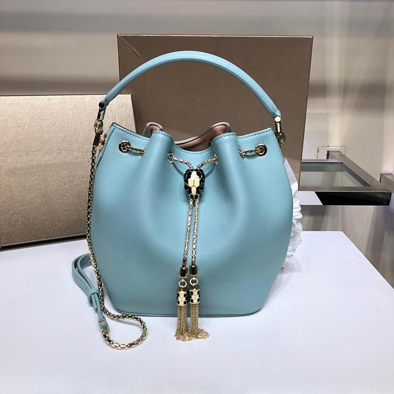 Frauen Designer-Handtaschen Top-Qualität Damen Rindsleder Schulter diagonale Messenger Bags Geldbörsen Eimer Taschen BVL Luxus echter