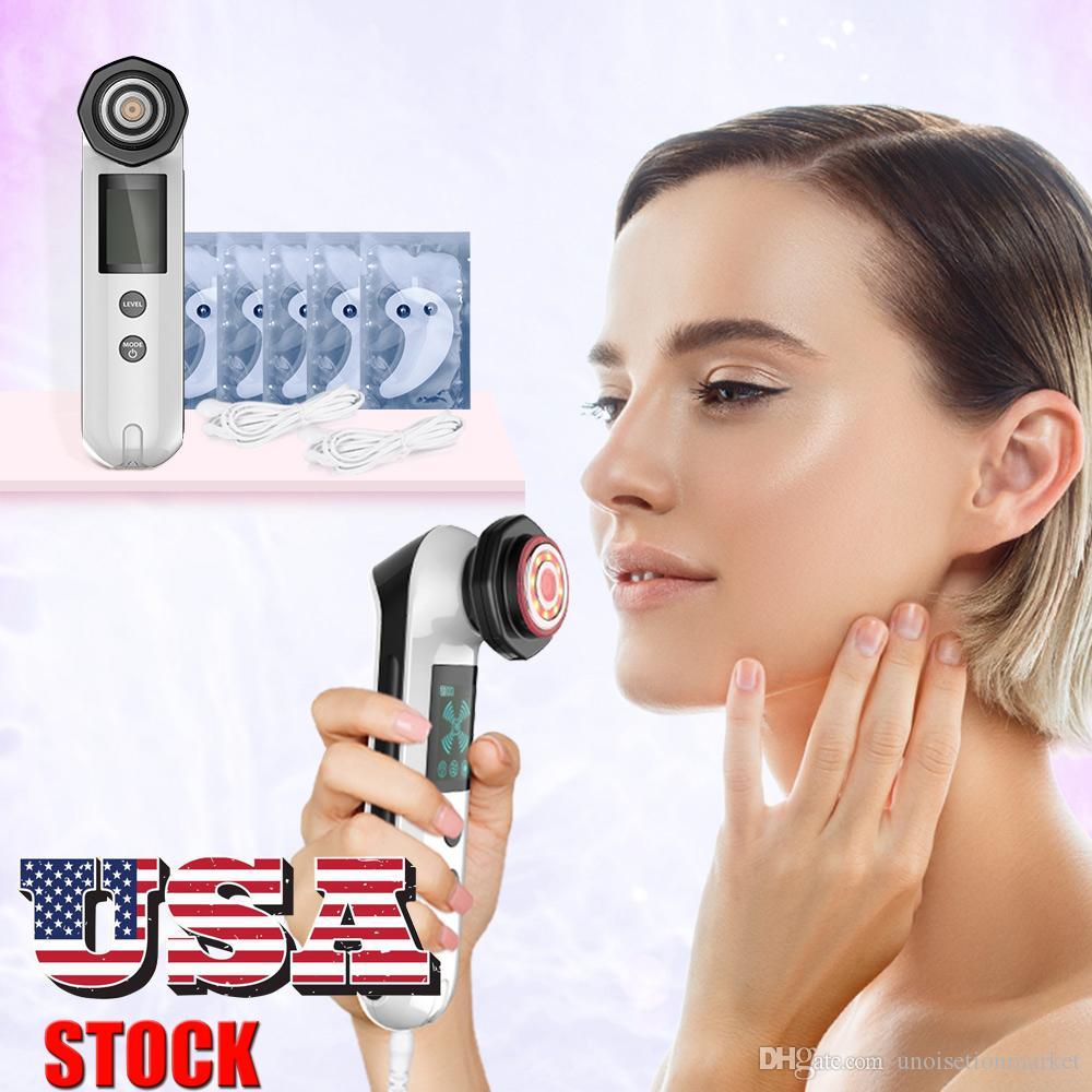 뷰티 아이 케어 패치 RF 무선 주파수 레드 LED 라이트 치료 피부 리프팅 페이셜 케어 아름다움 장비