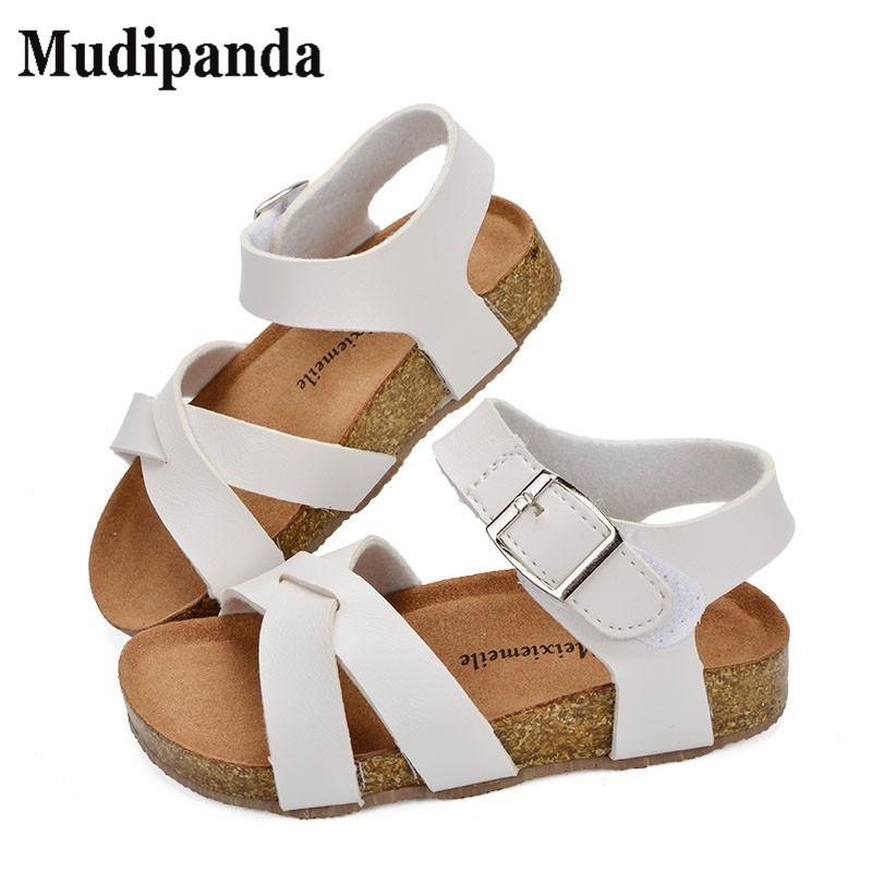 Mudipanda Boys Girls Beach Shoes 2018 New Roman Sandals Girl Boy School Sandals Shoes For Children Gladiator Glitter Y19051403