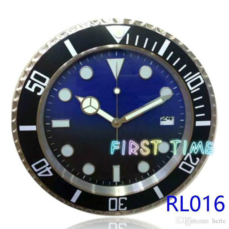 Home Decor wall clock modern design high quality brand new stainless steel luminous face calendars gold case wristwatch clock FT-DP001