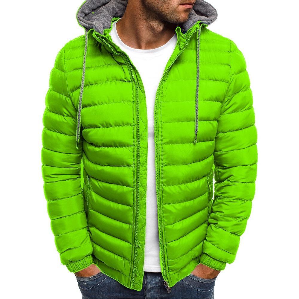 Chaquetas Parka ropa caliente del invierno de los hombres de la chaqueta Zogaa capa encapuchada causal de la cremallera de caballero Ropa de Calle para 2019