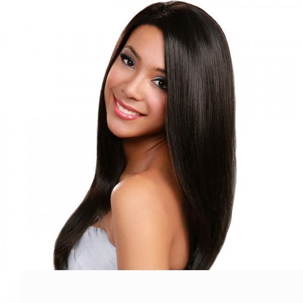 전체 레이스 인간의 머리 가발 최저 버진 브라질 페루 말레이시아 인도 크메르어 스트레이트 레이스 정면 가발 흑인 여성의 자연 색상
