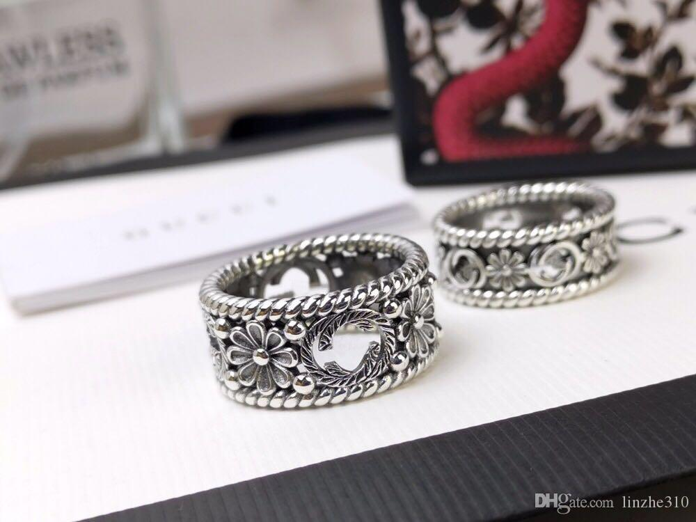 Popular fashion brand flower Designer rings for lady Design Women Party Wedding Luxury Jewelry With for Bride engagement