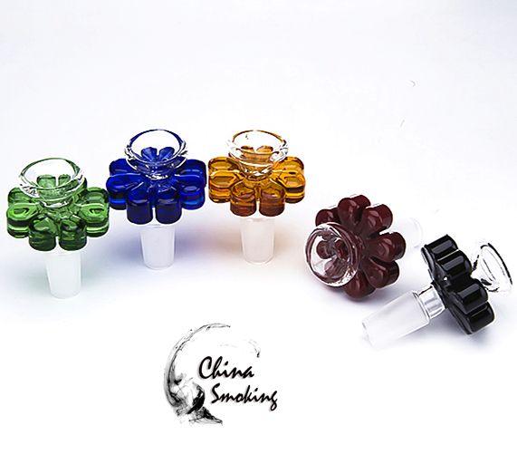 Filo di vetro colorato per vaso da fiori in stile 10mm 14mm 18mm Maschio Fumo accessorio per tubo di vetro Bong