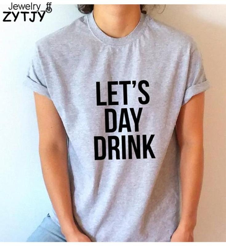 deixou-nos Letters bebida do dia Imprimir Mulheres Camiseta de algodão Casual engraçado Camiseta Para Lady Top Tee Hipster Tumblr Drop Ship camisetas marcas de moda