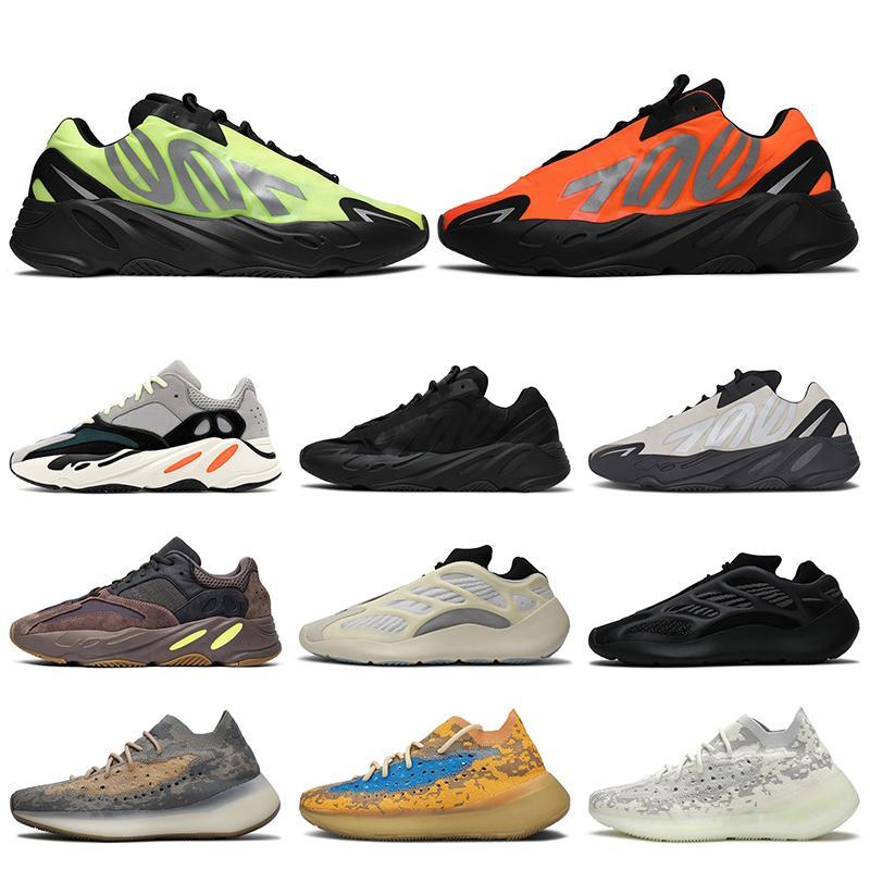 adidas yeezy boost 700 2020 Moda Kanye batı 700 mnvn Stok Kadın Erkek Turuncu Siyah Fosfor Kemik Beyaz Üst Kalite Erkek Eğitmenler Sneakers Ayakkabı Koşu x