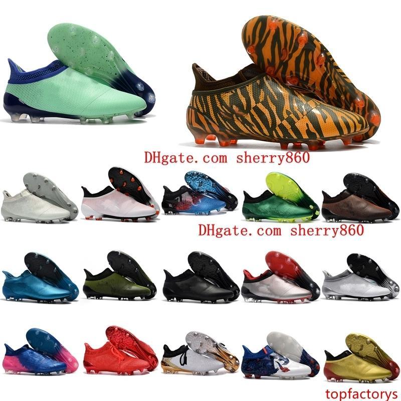 zapatos de fútbol para hombre X 17 Purechaos FG tacos original de fútbol de tobillo Ace 17 botas de fútbol Purecontrol Purespeed Copa Confederaciones barato caliente