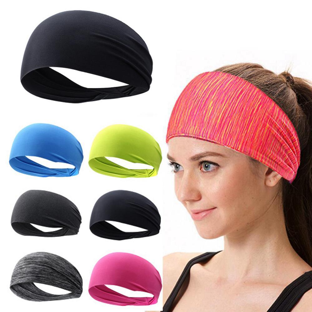 1Pc Elastic Yoga-Stirnband Sport Schweißband Frauen / Männer Jogging-Haar-Band Turban Außen Gym Fitness Schweißband-Verband-Zubehör