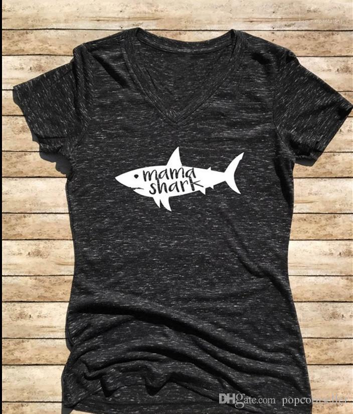 Хлопчатобумажная Женская футболка с V-образным вырезом печатные тройники женские новые топы летние женские дизайнерские простые и удобные