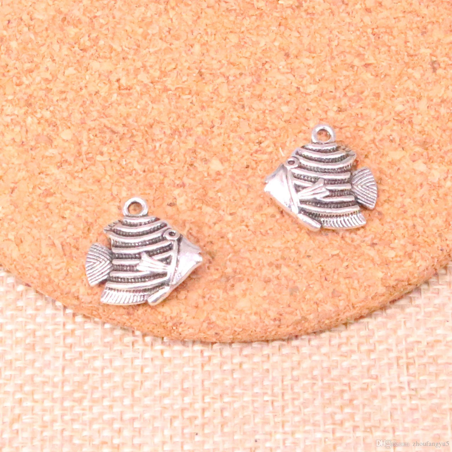 36pcs Charms goldfish fish 18*18mm Antique Making pendant fit,Vintage Tibetan Silver,DIY Handmade Jewelry