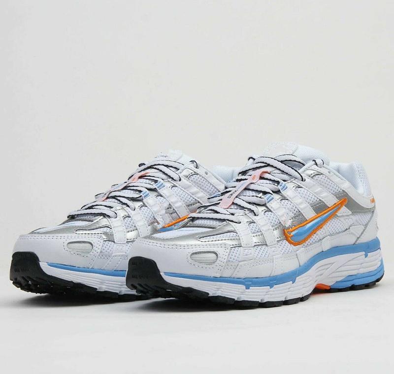 2020 WMNS P-6000 الأبيض الجامعة الأزرق النساء أحذية رياضية مع مربع W P-6000 الرجال الأبيض البلاتين تينت عارضة أحذية الحجم 36-45