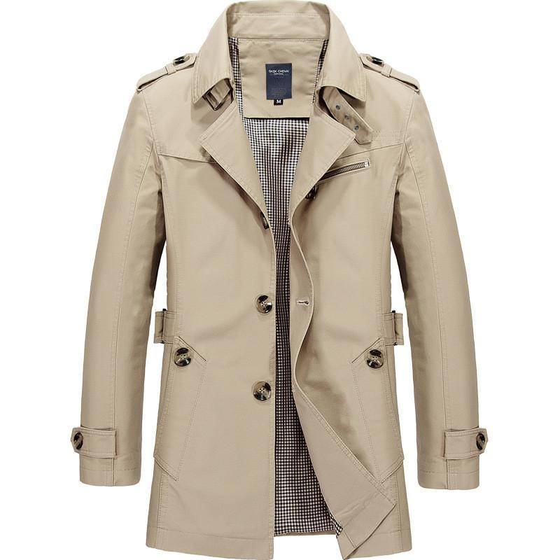 الرجال سترة معطف الأزياء خندق معطف ربيع جديد ماركة عارضة تناسب معطف سترة قميص الذكور