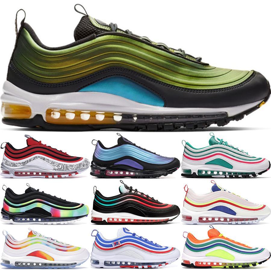 2020 أحذية المصمم تعكس إرتداد المستقبل الثلاثي أسود أبيض الرجال الاحذية الفرنسية رش الحبر نمط رجل إمرأة حذاء رياضة 36-45
