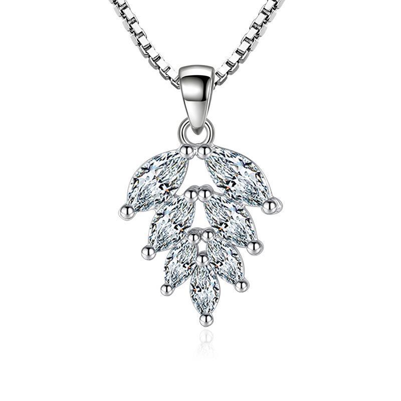Utimtree высокое качество мода кулон ожерелье для женщин серебро 925 кубический Циркон камень колье ожерелья ювелирные изделия лучший подарок девушки