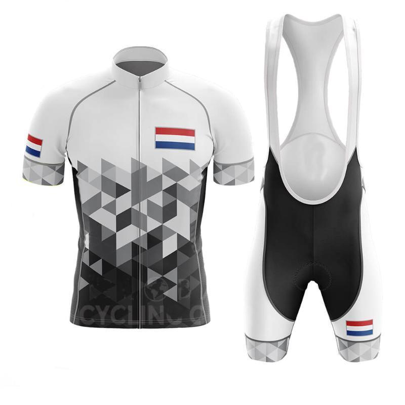 Pays-Bas Pro Cycling Summer Set VTT Vélo Vêtements Pro Vélo Maillot sport Maillot Ropa Ciclismo Maillot cyclisme Set