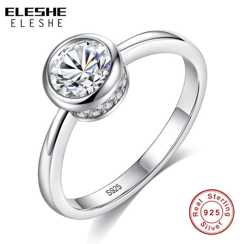 2020 Eleshe Simple Female Small Round Cz Crystal Ring 925 Sterling Silver Wedding Engagement Rings For Women Authentic Jewelry From Wonderline2 25 71 Dhgate Com