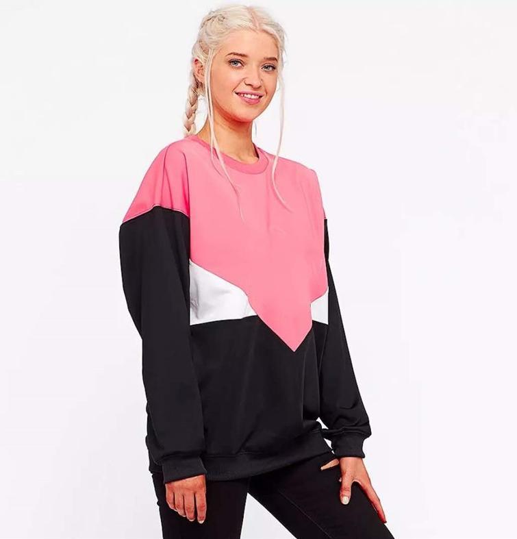 2020Designer con capucha Mujeres sudaderas y sudaderas con capucha casual marea de la moda mujeres de la marca con capucha con la hoja impresa en color rosa M-2XL CYH8082402