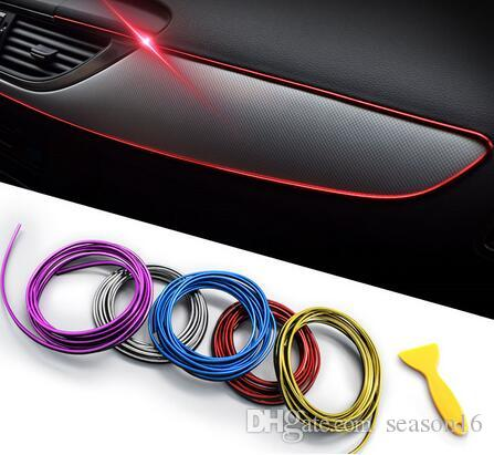 5M سيارة التصميم الديكور الباب قطاع النفخ تريم لوحة القيادة حافة العالمي للسيارات كروم