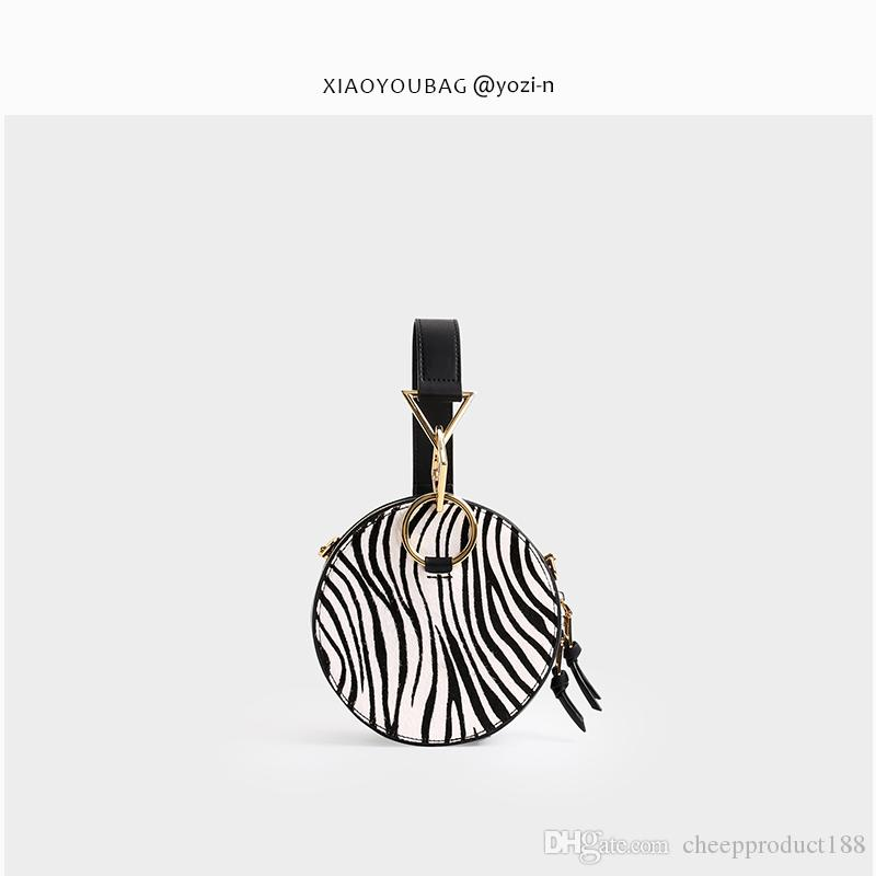 2019 yeni kürk at kılı küçük yuvarlak çanta çanta omuz çantası omuz asılmış küçük çanta