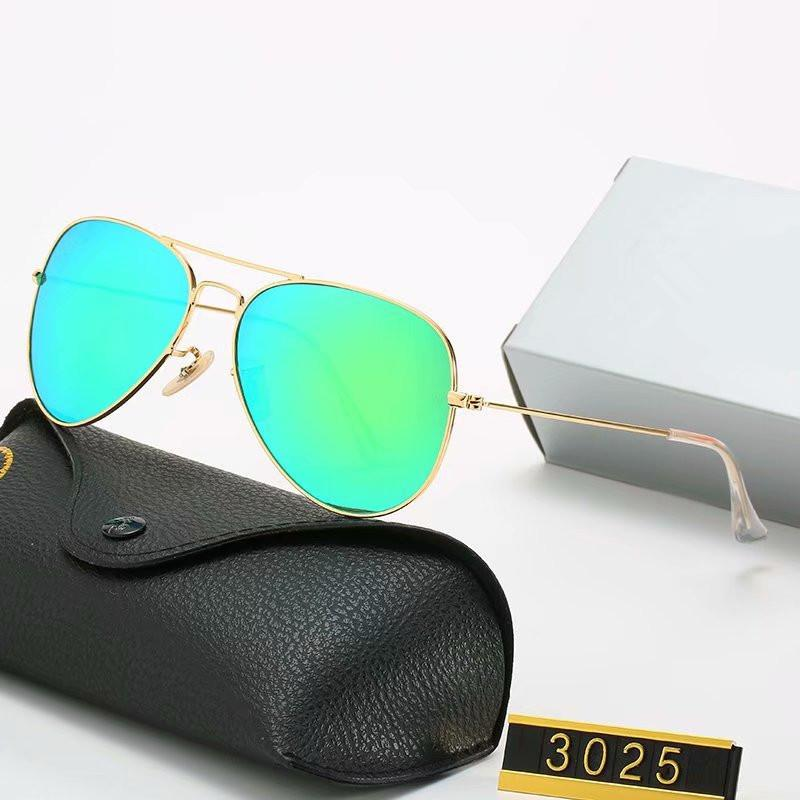 الموضة في النظارات الشمسية للرجال النساء إطار معدني مرآة بولارويد العدسات سائق تحظر نظارات شمسية مع الحالات ومربع