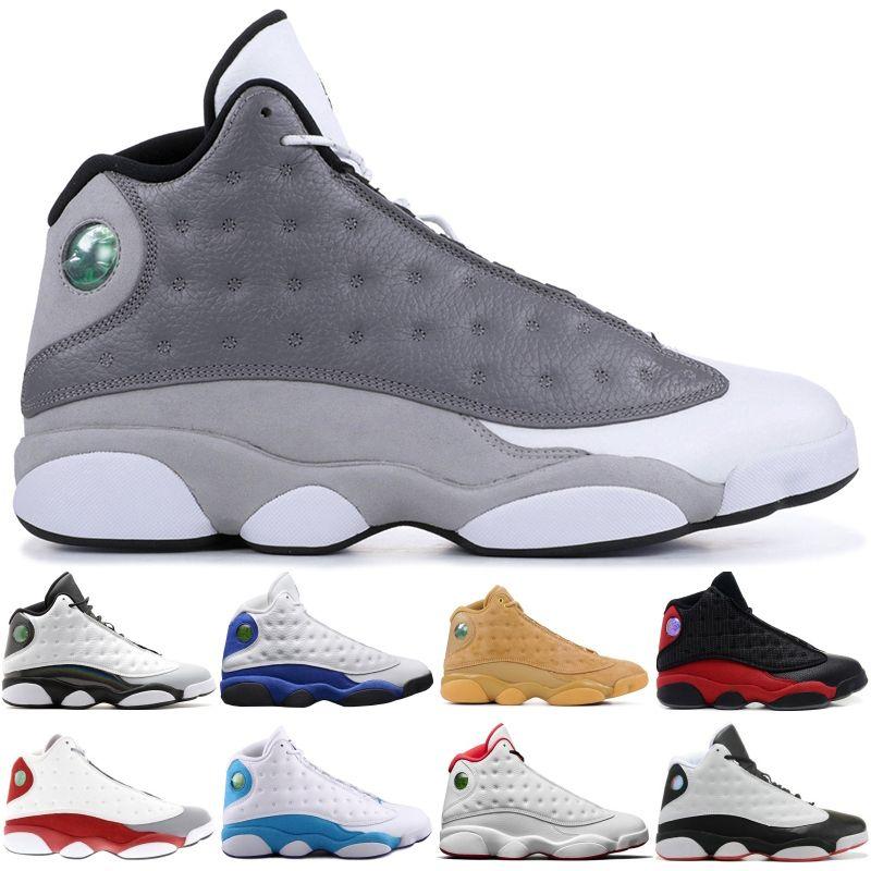 13 13s High Баскетбол Обувь мужская Атмосфера Серый бароны Голограмма Любовь Уважайте Черный стилиста обувь XIII Спорт тапки