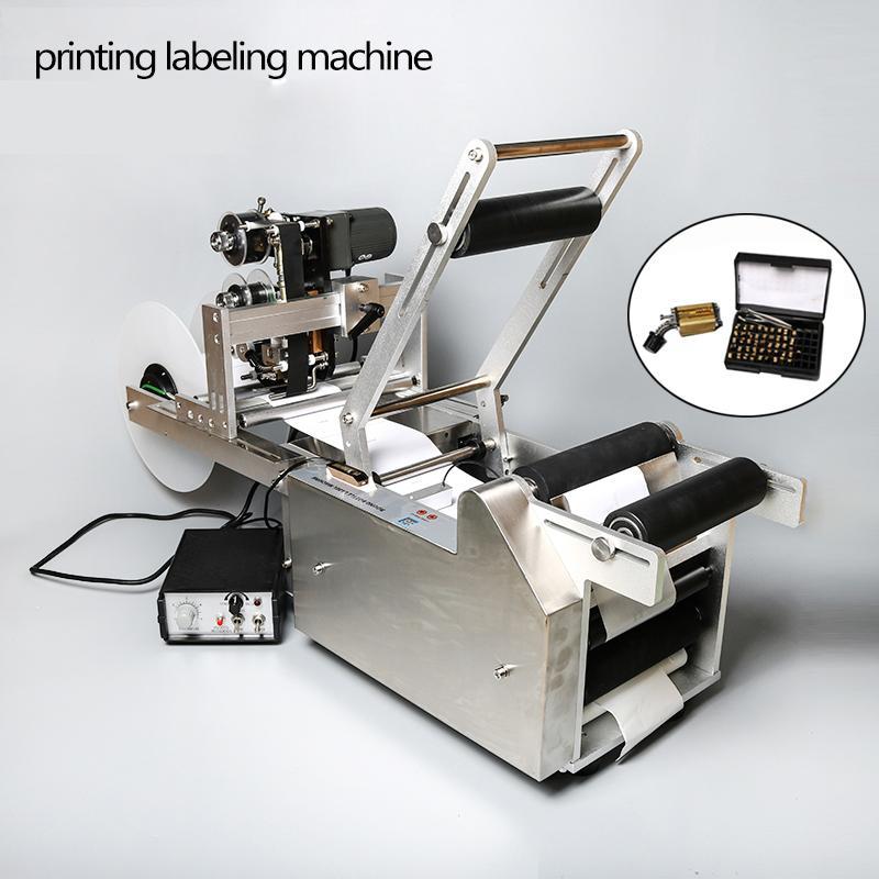 Máquina de aço inoxidável da etiqueta do aplicador da etiqueta semi automática da etiqueta da máquina da etiqueta da máquina