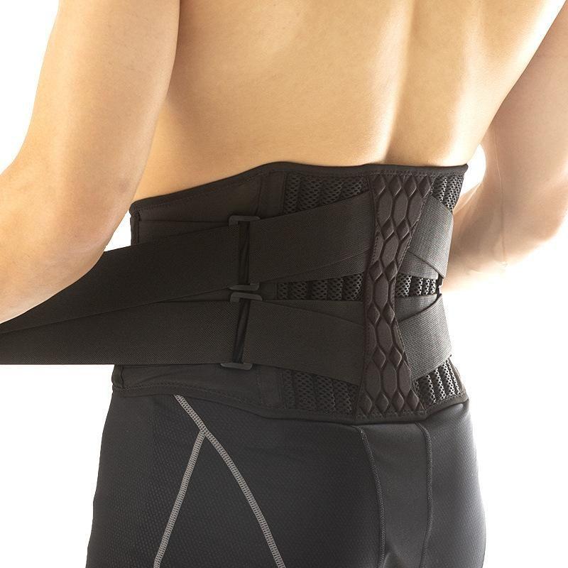 حزام دعم الخصر القطني قوي أسفل دعامة الظهر حزام الخصر الداعم عرق بسيط لرياضة تخفيف الألم جديد