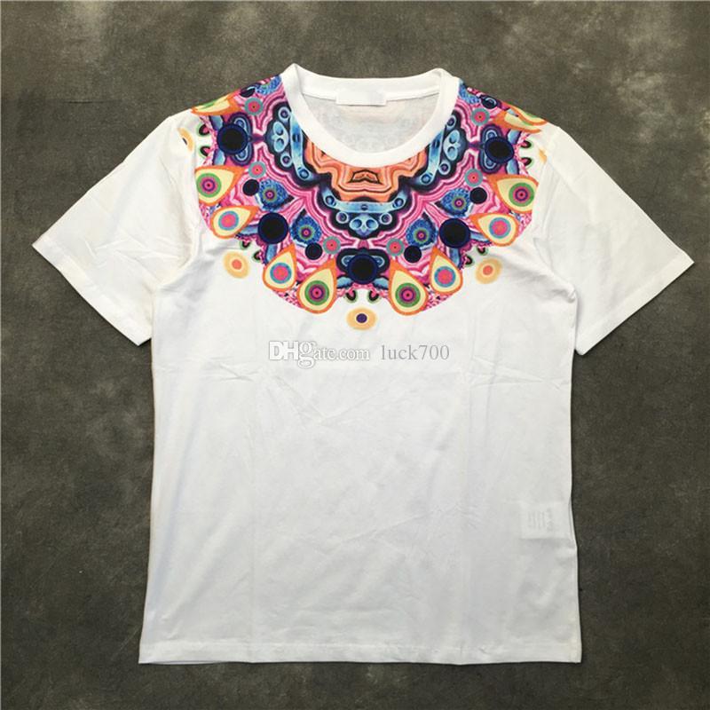 19SS Hommes T-shirt couple coton imprimé à manches courtes tendance Fahion Mens T-shirts Taille Noir Blanc S-2XL