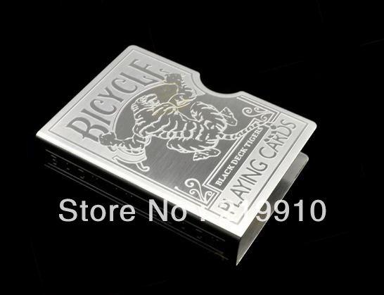 Kostenloser Versand Tiger Card Guard --Magic Trick, Spaß Magie, Partei Magic geschnitzt.