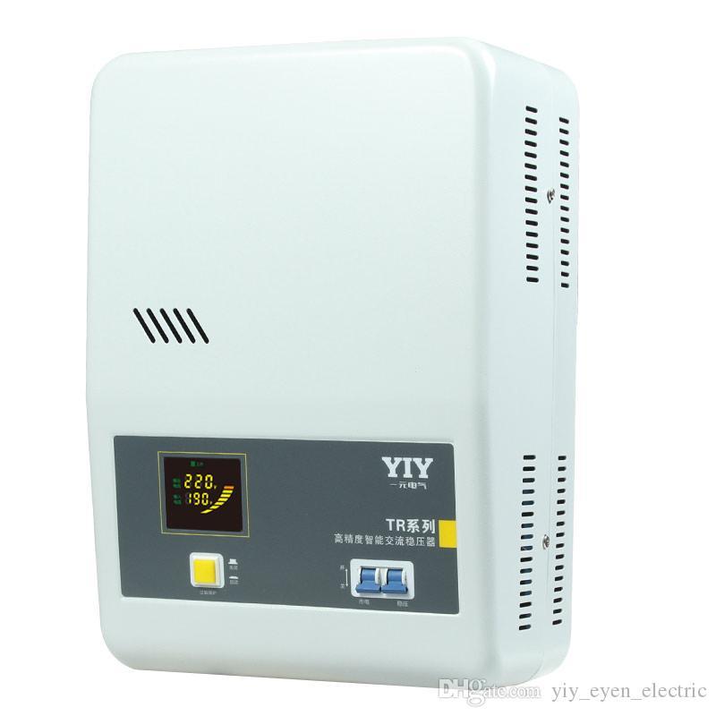 سلسلة TR AC220V 10KVA ملون DISPLAY YIY التلقائي الجهد المنظم الجهد استقرار MCU التحكم / البناء في مقبس / نوع التتابع / تخصيص