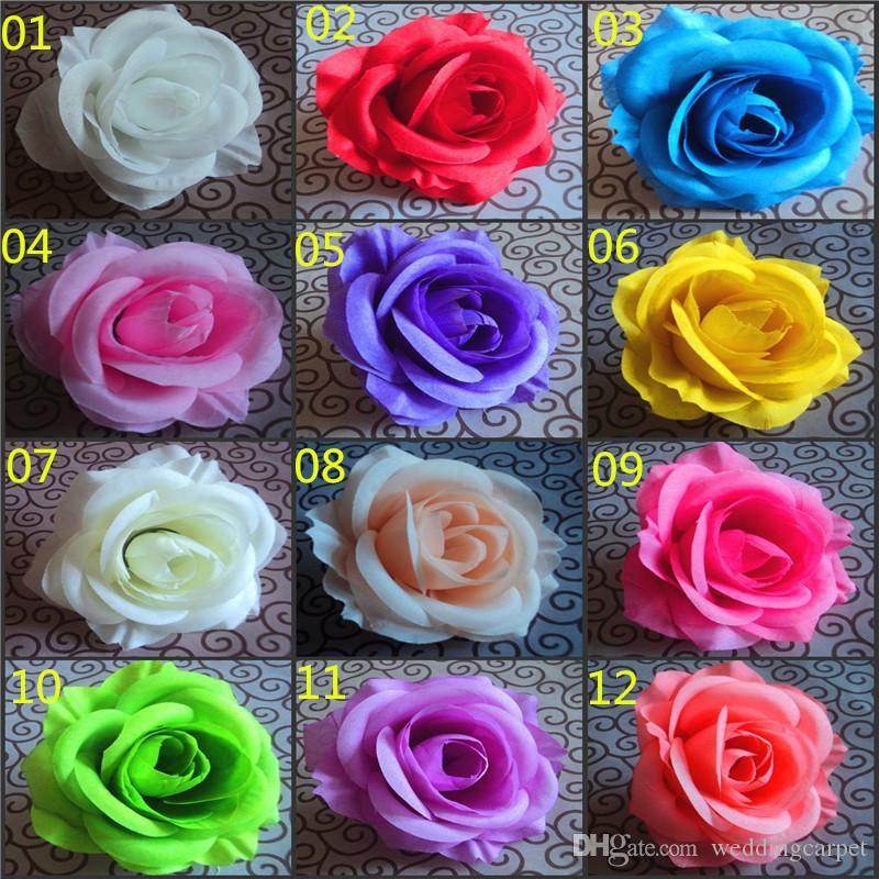 BEST SELLER ÇİÇEK BAŞKANLARI Yapay İpek Camellia Düğün Ev Dekoratif Flowewrs için sahte Şakayık Çiçek Başkanı 7--8cm Rose 100P