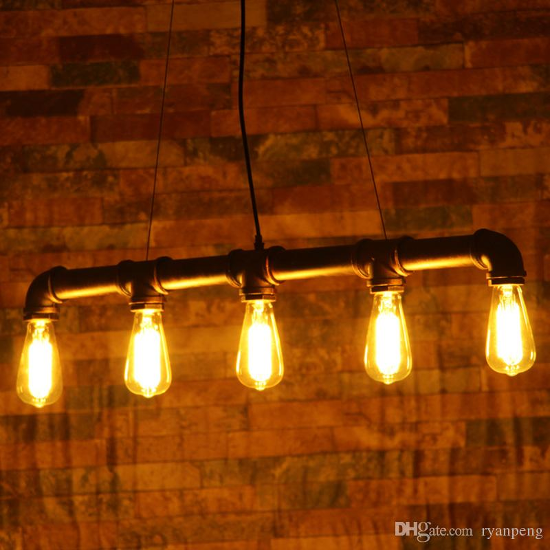 Vintage Industrial Steampunk Lamp Attic Wall Lamp Restaurant Bar Club Porch Corridor Cafe Light Chandelier Water Pipe Edison E27