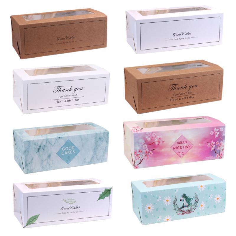 10 piezas unicornio gracias Favor caramelo caja bolsa nueva artesanía papel pvc ventana boda Favor cajas de regalo pastel cumpleaños fiesta caja bolsas