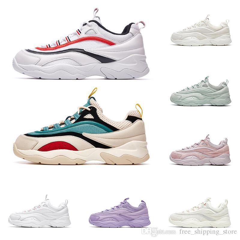 Compre Fila 2020 Zapatos De Marca De Diseñador De Moda Para Hombres Mujeres  Fusión Triple Blanco Púrpura Verde Rojo Para Hombre Entrenador Casual ...