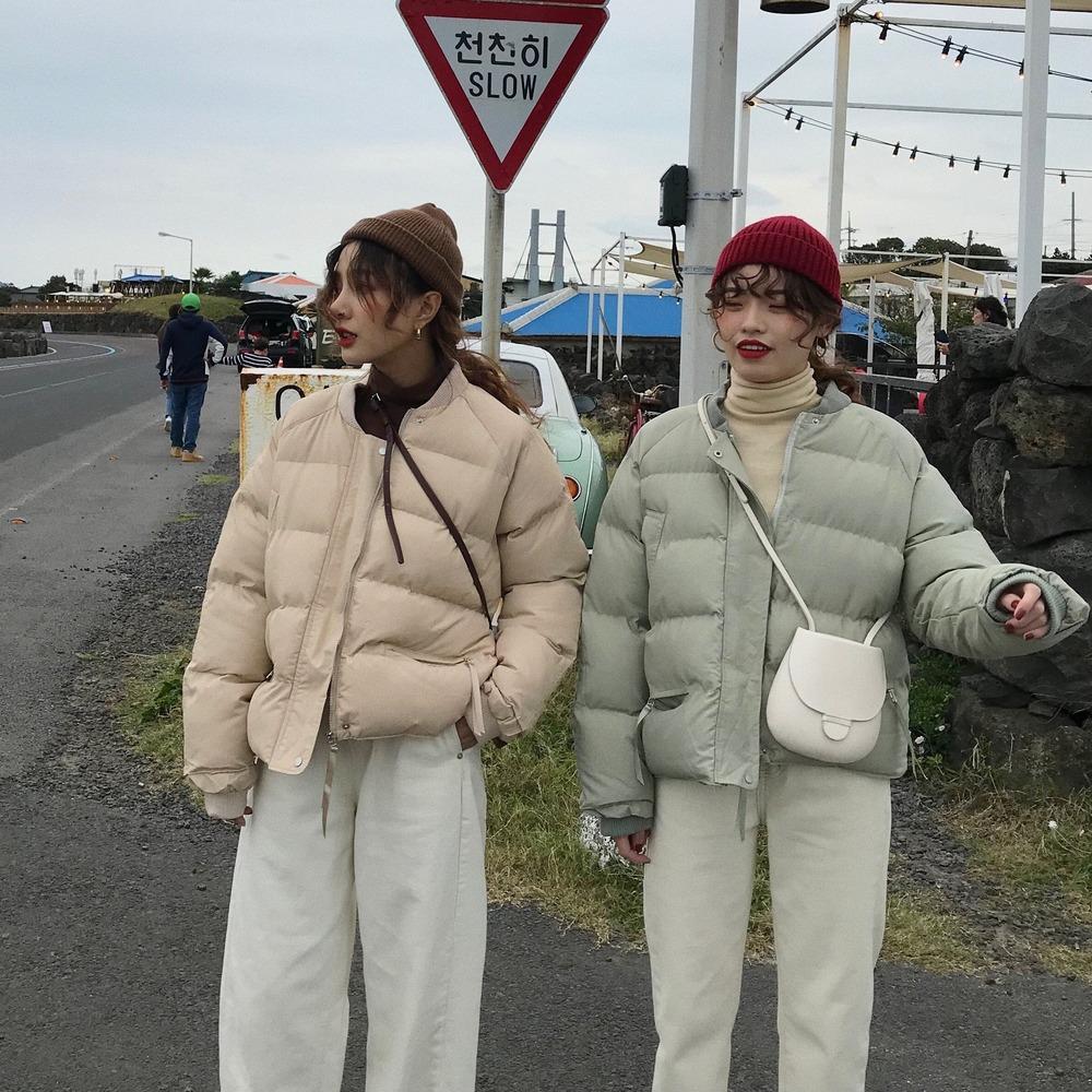 Womens Casacos Winter Fashion Thick Ladies Cropped Coats Inverno soltos quentes de algodão acolchoado roupas Casacos Pão roupa Coats