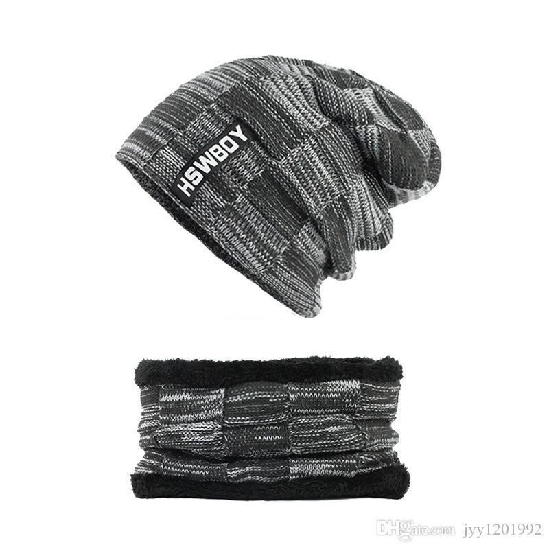 chapeaux d'hiver bonnets chapeau bonnets d'hiver pour hommes femmes laine écharpe casquettes masque de balaclava gorras bonnet tricoté