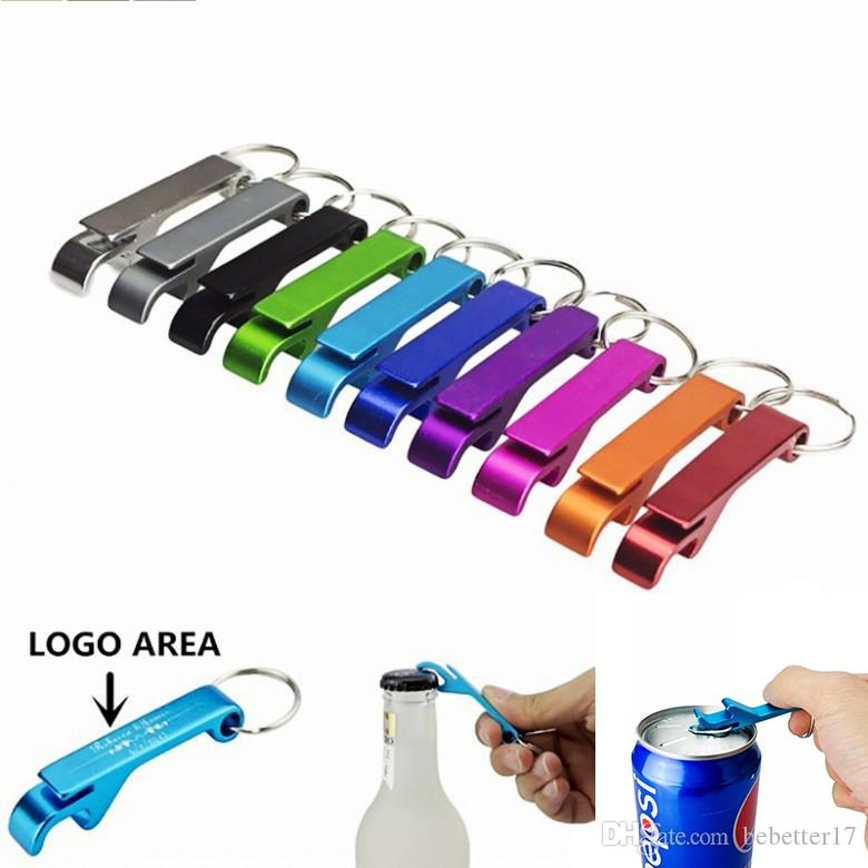 Pocket Key Chain Beer Bottle Opener Claw Bar Small Beverage Keychain Ring Openers Tool Gear Beverage Can Do Custom Logo Free Shipping