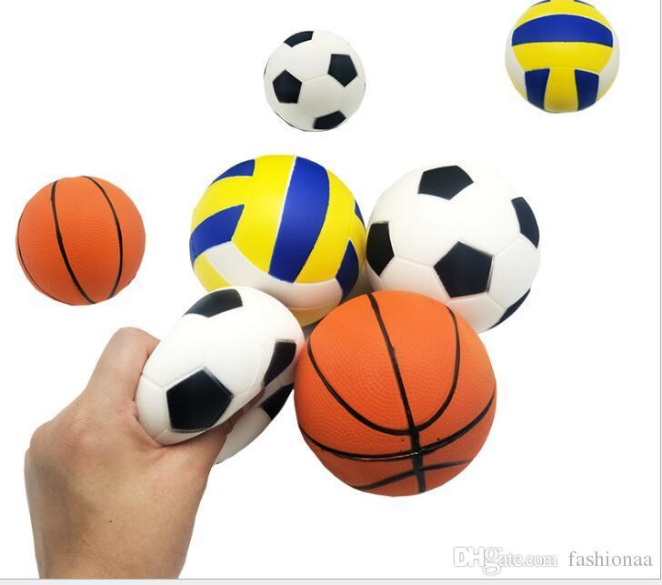 Squishy Oyuncaklar Beyzbol Basketbol Voleybol Yavaş Yükselen Jumbo Sıkmak Telefonu Charms Krem Ekmek Stres Rahatlatıcı Dekompresyon Hediye Yetişkinler için