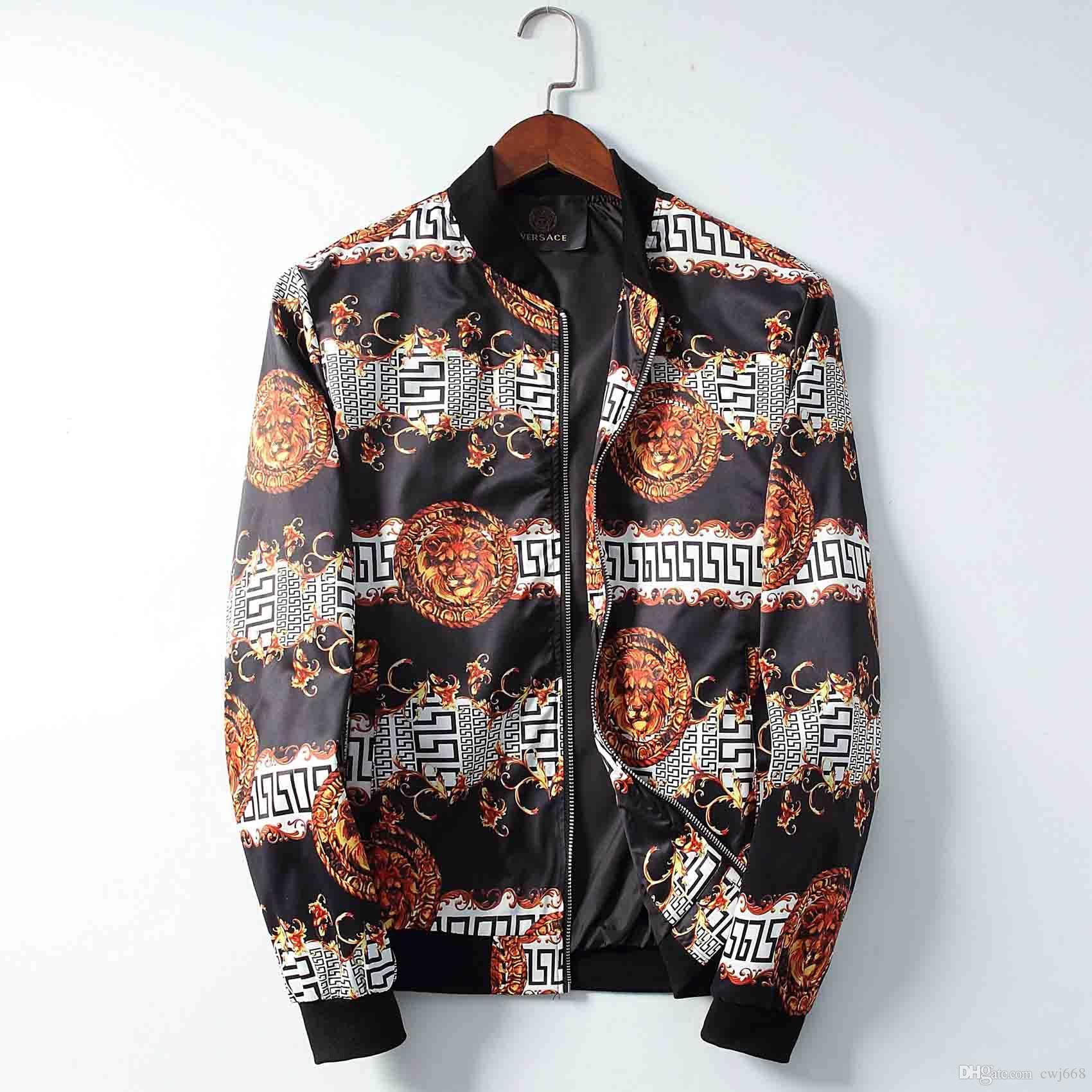 2019Luxury moda de lujo de la chaqueta de diseño de los hombres chaqueta de sudadera de deportes de invierno de manga larga de los hombres de la capa encapuchada de las mujeres cremallera rompevientos