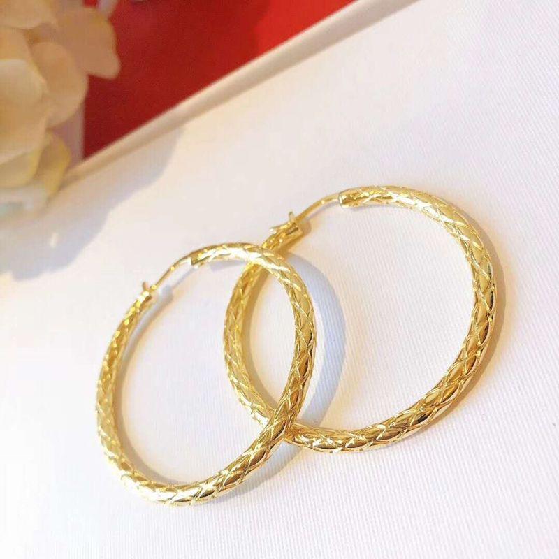 Aros de los pendientes pendientes popular de las mujeres plateado del oro amarillo de mujeres de las muchachas de fiesta de la boda bonito regalo para el amigo