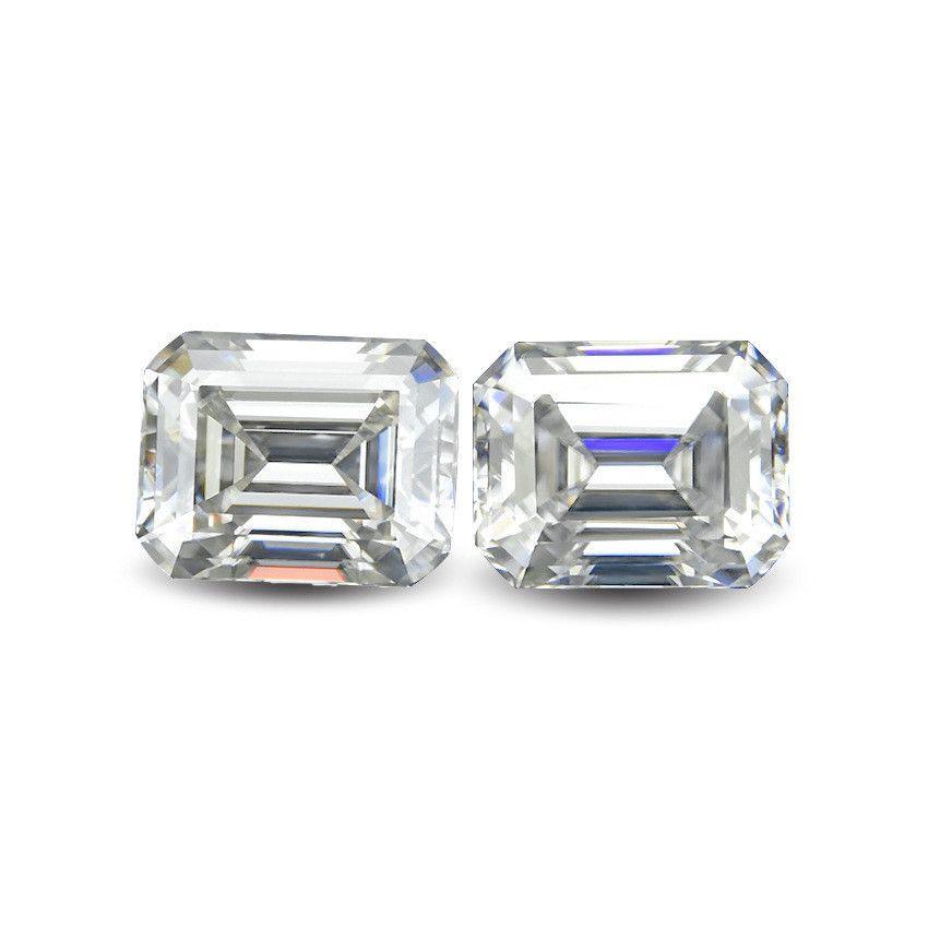 الزمرد قص مستطيل مختبر الماس ريال المويسانتي حجر اللون D الوضوح VVS مع شهادة لخاتم، قلادة، ووتش، الخ.