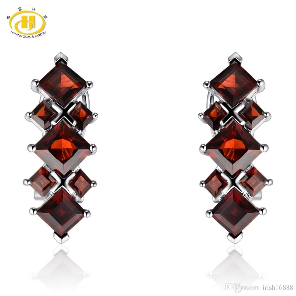 M/éduse/ /avec pierres de cristal rouge /Boucles dOreilles Argent sterling/