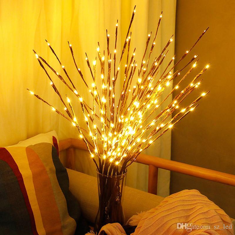 Led Willow Ramo Lâmpada Luzes Florais 20 Lâmpadas da Festa de Natal Decoração de Casa Presente de Aniversário de Férias CONDUZIU a Luz Da Noite o Poder Da Bateria