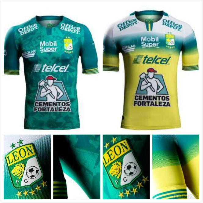 Leon Home Soccer Jersey 2019-2020 Men Size Futbol Football Jersey