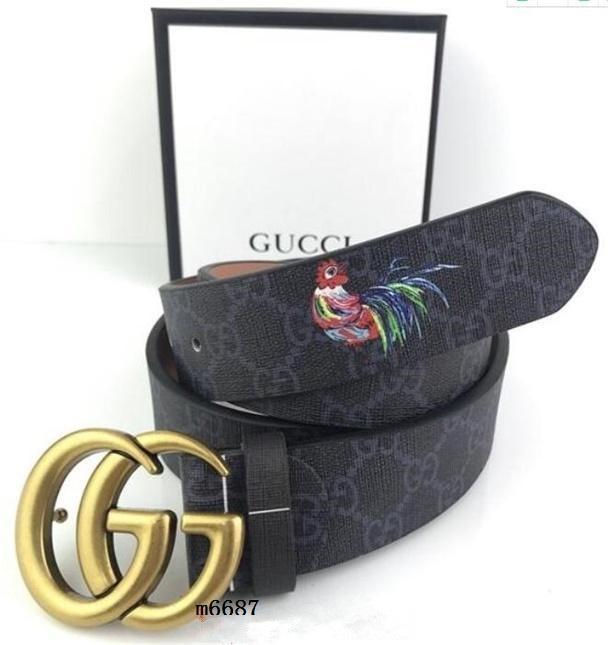 Heiße Verkaufs-Mode Gürtel Damen Gürtel Herren Gürtel Leder Black Belts Frauen Schlange große Goldschnalle Männer klassische zufällige Gürtel mit Box 225