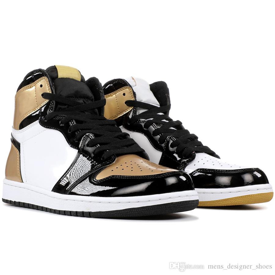 1 Men Basketball Shoes Gold Top 3 Homage To Home Shadow Banned Bred Black Toe Chicago Triple Black White 1S Sports Sneakers 7-13