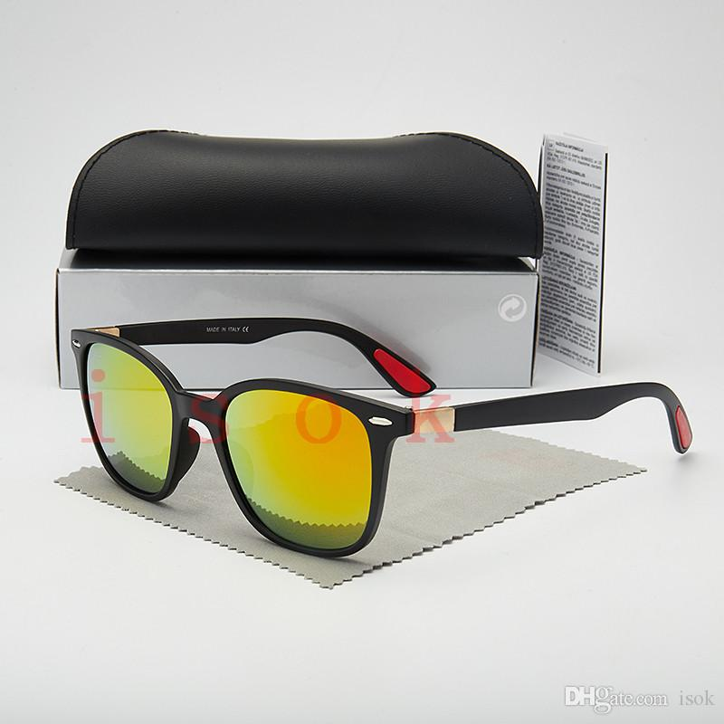 10PCS, 남성 여성 파일럿 안경 디자이너 브랜드 태양 안경 사각 프레임 UV400 렌즈 박스 및 케이스에 대한 최고 품질 새로운 패션 선글라스