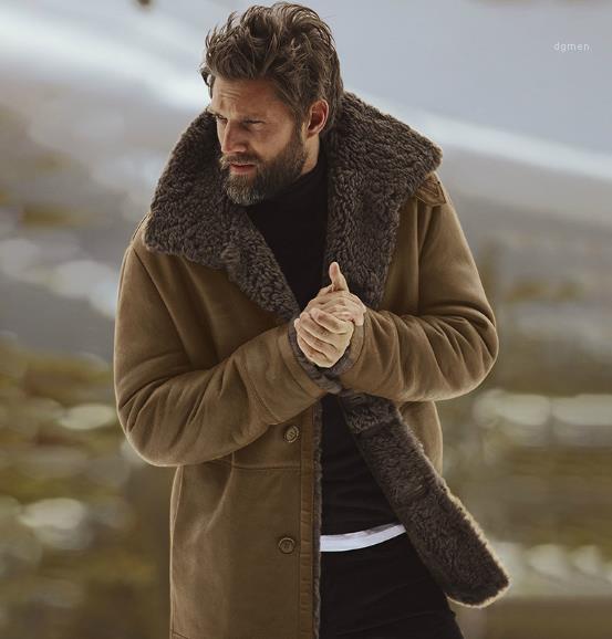 عارضة الرجال سترة واقية الرجال مصمم الشتاء سميكة سترة الأزياء معاطف الكشمير الدافئة واحدة اعتلى معاطف